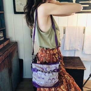 ♥️ Coach ♥️ Purple Crossbody Bag